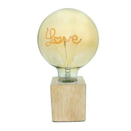 Luminária madeira Led Love