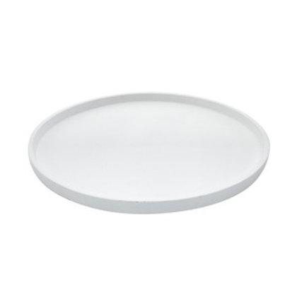 Bandeja Round madeira white