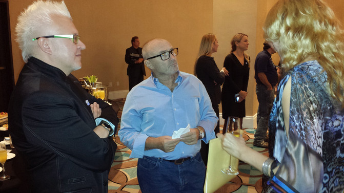 Meet with legendary musician Phill Collins at the music conference at Fountain Blue hotel, Miami