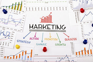 marketing concept with financial graph a