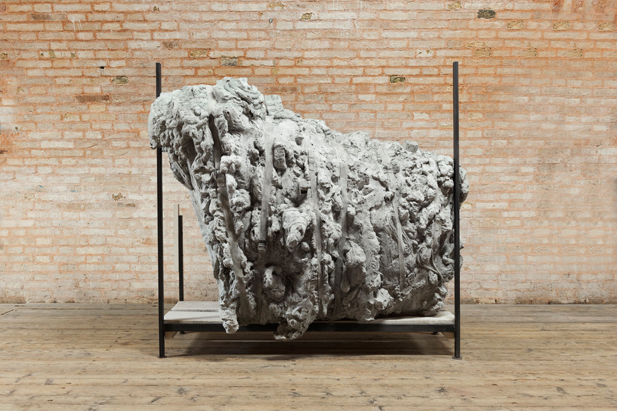 Monowe (The Powder Room), Moderate AD 01, 2019 Wood, iron, paint, concrete, polyurethane foam Production supported by La Biennale di Venezia, presented at the 58th International Art Exhibition Photo©Nuvola Ravera