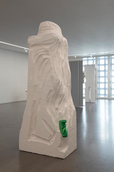 Stine Telamon, 2020 Polystyrene, water-based resin, aluminum, acrylic paint, putty resin  Installation view at Bündner Kunstmuseum, Chur, Switzerland Photo©Thomas Strub