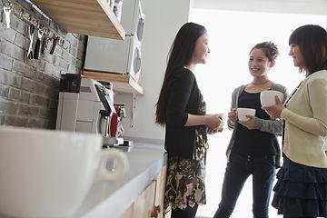 Three businesswomen on the coffee break