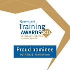 2021 Qld Training Awards proud nominee l