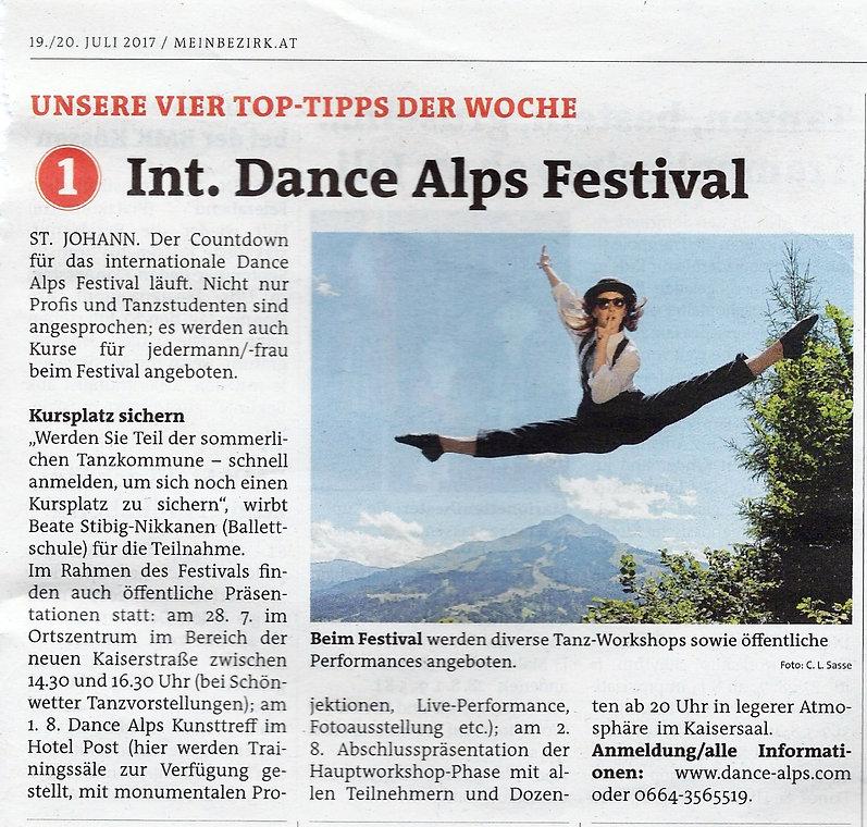 Dance Alps Festival 2017