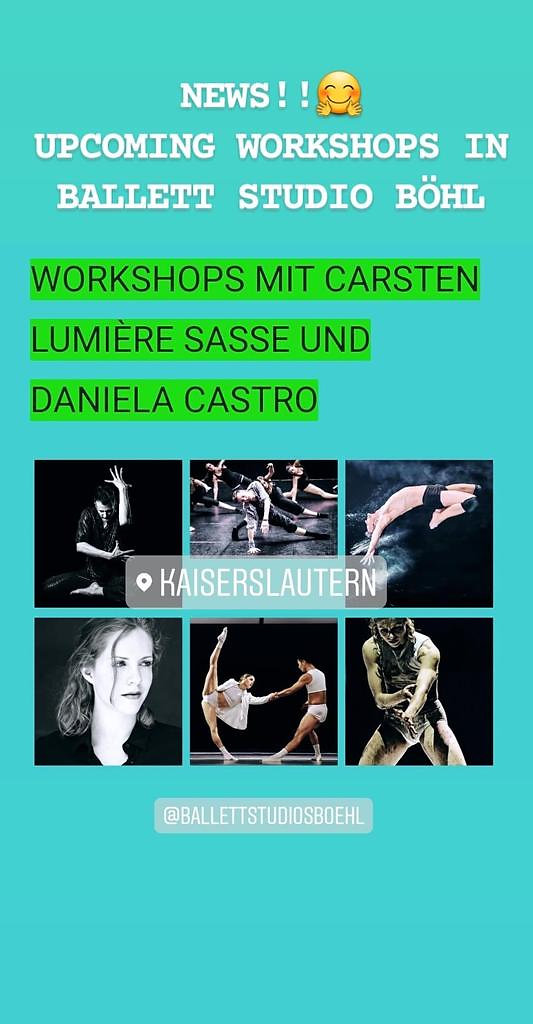 Dance Workshops Carsten Lumiere Sasse