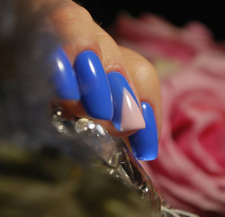Indigo Blue Nail Art