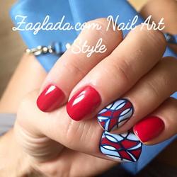 Red Shellac & Vintage Nail Art