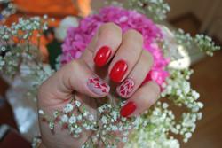Red Hearts Nail Art