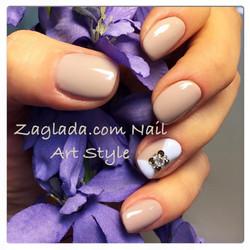 Nude Shellac Nail Art