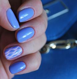 Stunning Blue Nail Art