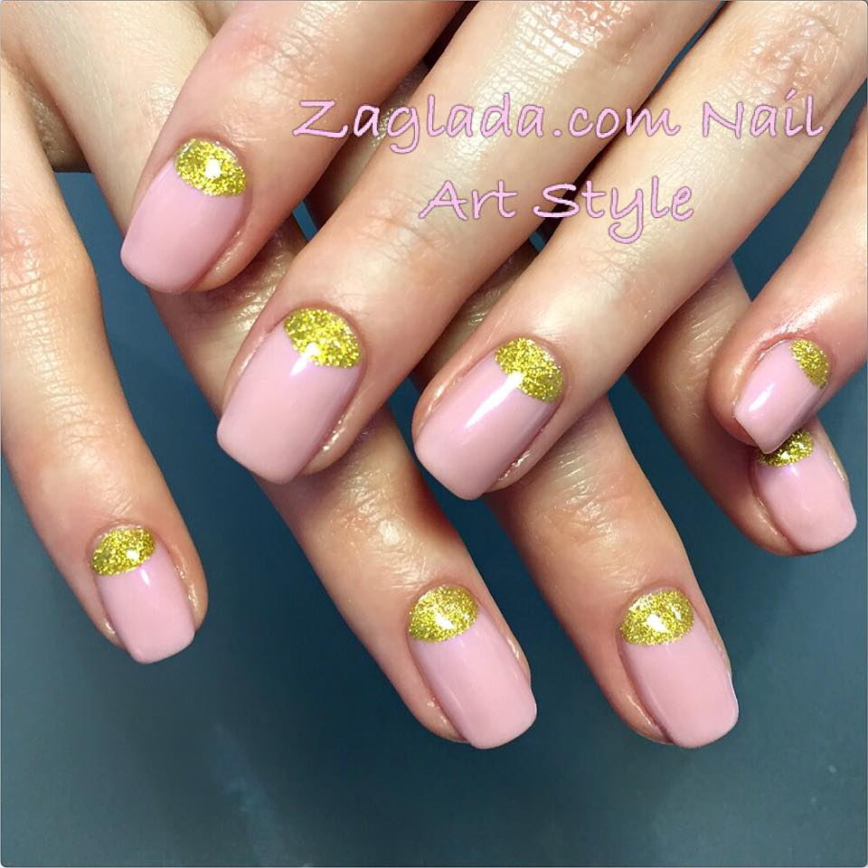 Light Pink & Golden Half Moon