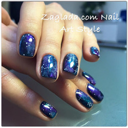 Space Galaxy Nail Art