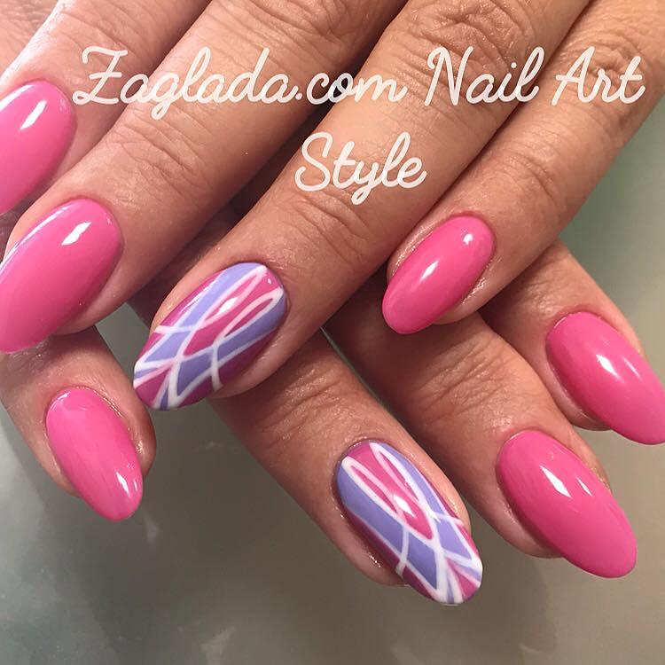 Pink Vintage Shellac Nail Art