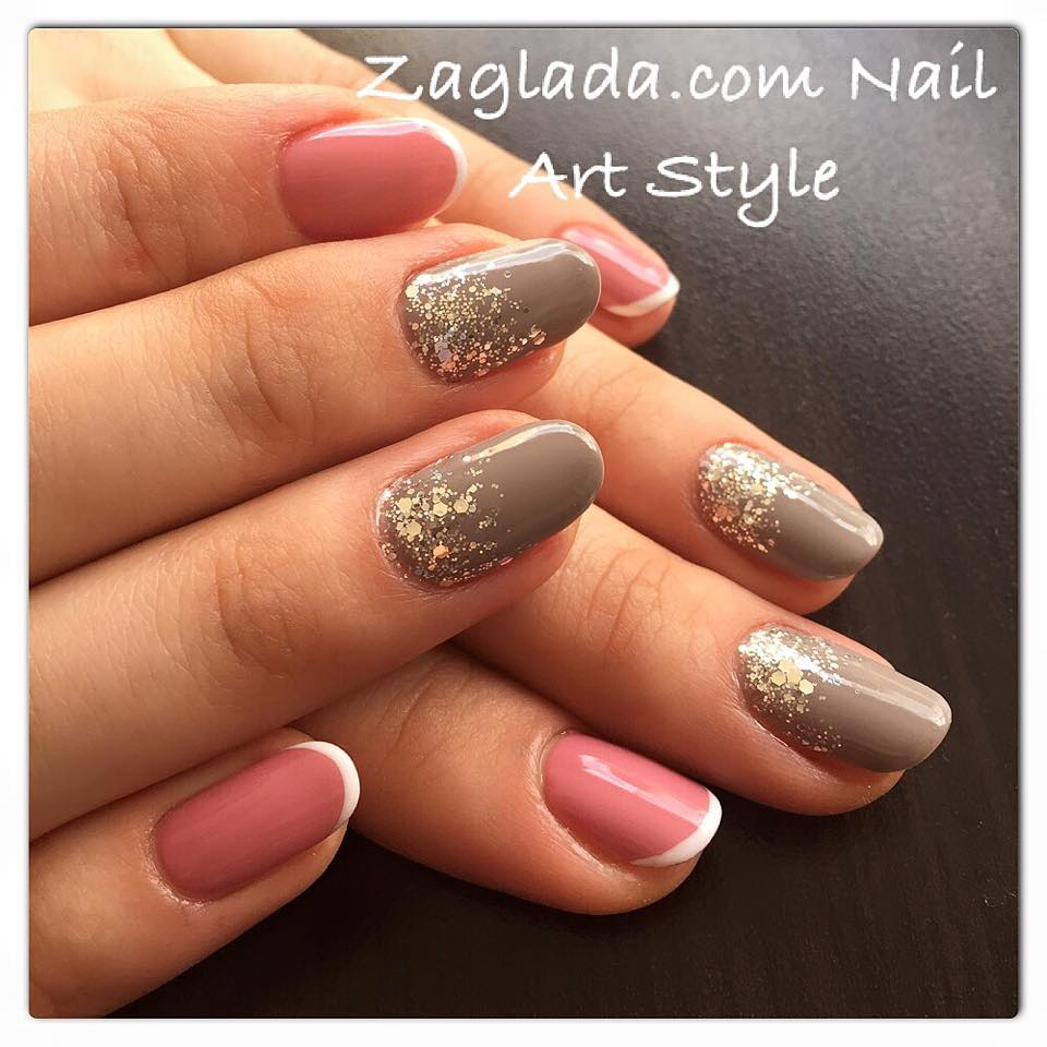Smoky Grey & Baby Pink