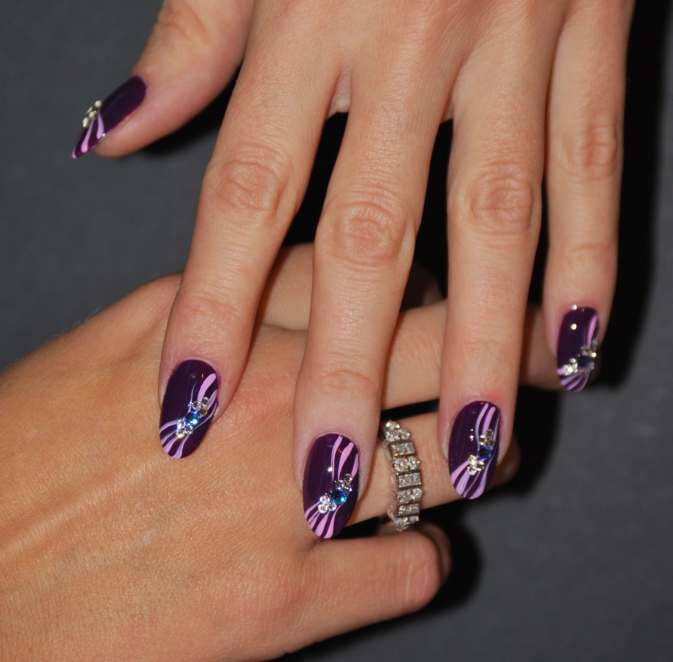 Deep Purple Nail Art