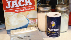 Unboxing instant mashed potatoes