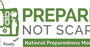 National Preparedness Month: Be Prepared Not Scared
