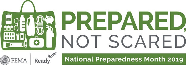 FEMA/Ready.gov logo for National Preparedness Month 2019