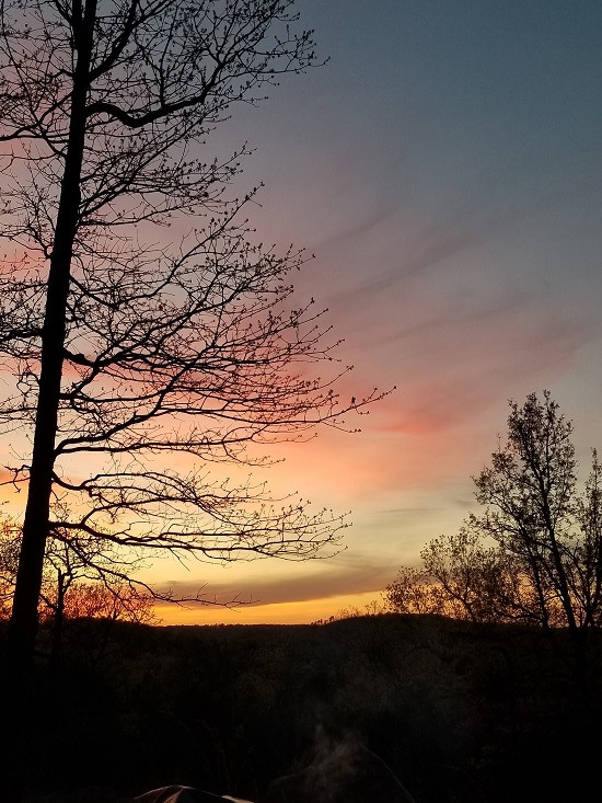 Beautiful sunset in the Ozark Mountains.