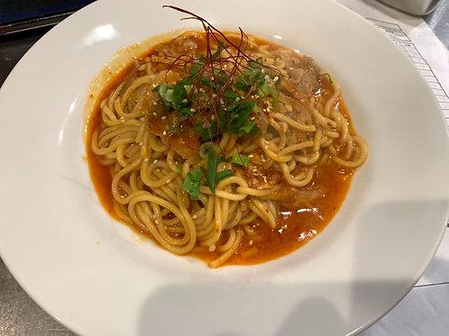《二クバルダカラ》汁なしユッケジャン麺