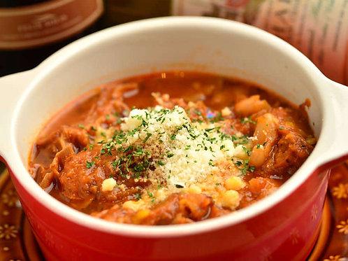 《二クバルダカラ》トリッパのトマト煮