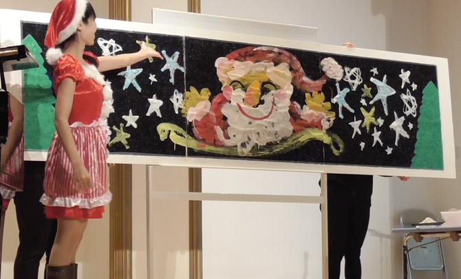 続・「お絵描きのお姉さん」として、保育園のクリスマス音楽祭に出演♪(写真)