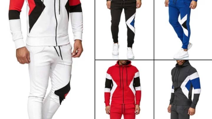 Two piece men's fashion track suit,
