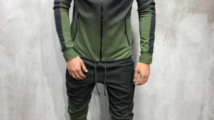 Two piece men's track suit