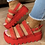 Thumbnail: Ladies open toe chunky heel sandals,