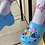 Thumbnail: Clog slippers and purse,
