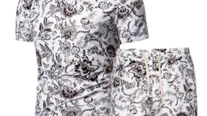 Men's two piece short and shirt set,