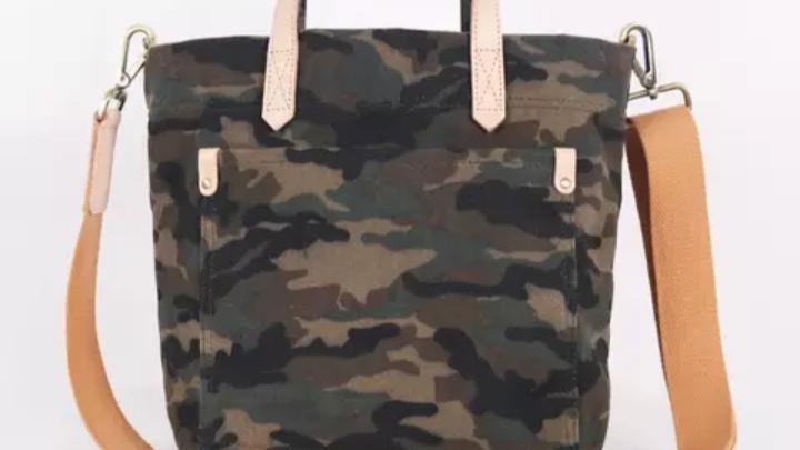 Camouflage Printed tote bag,