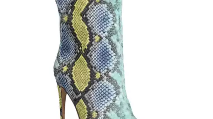 Lady's Tall Ankle Snake skin Boots