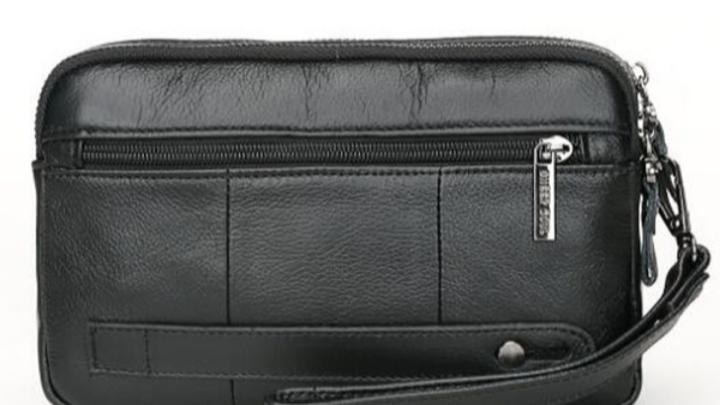 Men's leather clutch purse,