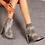 Thumbnail: Snakeskin women matching shoe and bag,