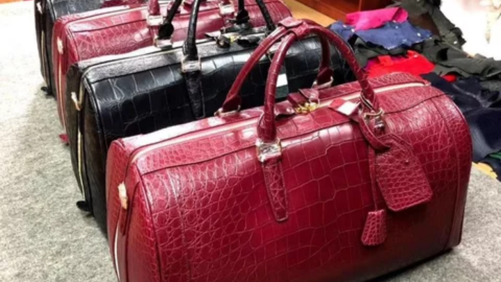 Luxury Crocodile travel duffle bag