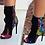 Thumbnail: Fashion Designer Fringe Peep Ankle Boots,