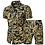 Thumbnail: Men's two piece short and shirt set,