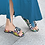 Thumbnail: Snake skin slide in shoes and matching purse,
