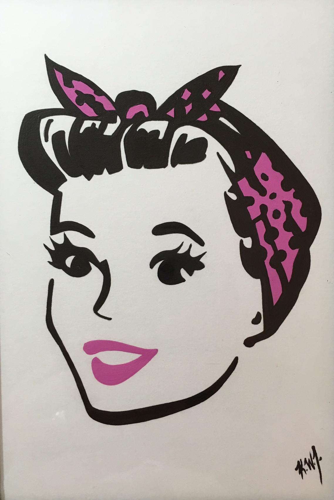rockabilly girl pink