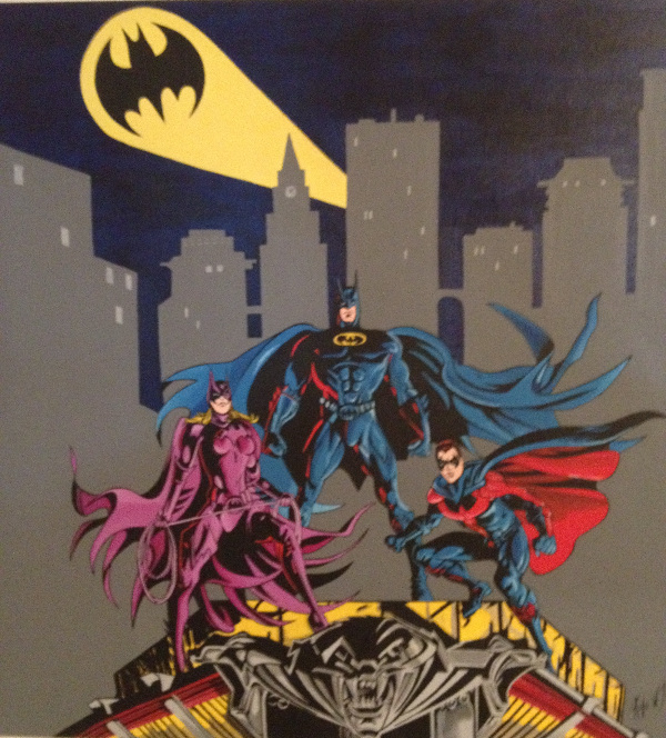 Batman Batgirl and Robin