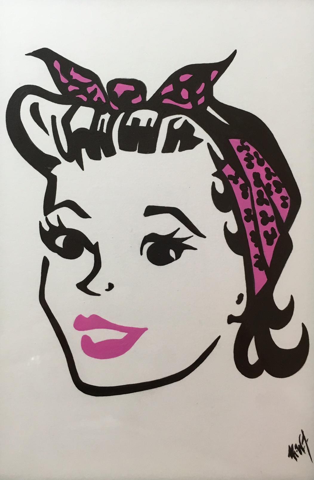 rockabilly girl pink2