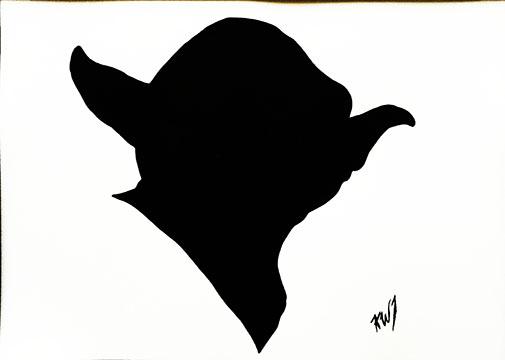 Star Wars yoda face
