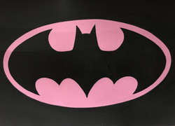 batman pink logo