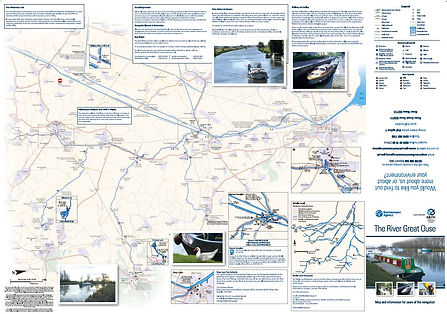 Reverse side of river Great Ouse map
