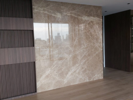 Natural Stone Feature Wall ,  Light Empredor Marble