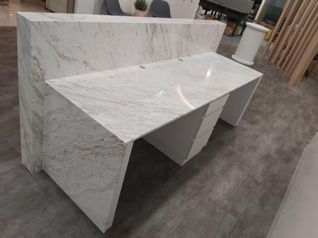Natural Marble Countertop - Volakas Marble