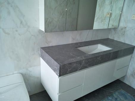 Hermes Grey - Vanity Top