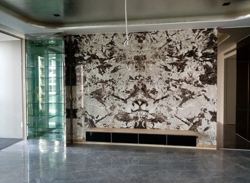 Marble Feature Wall - Mystic Spring